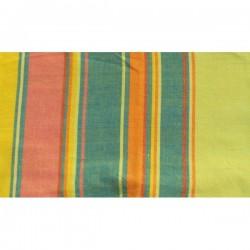 tissu épais jaune et bleu